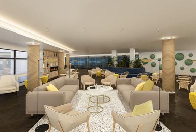 Salon- Rénové en 2020 Hôtel AluaSoul Palma (Adultes Seulement) Cala Estancia, Mallorca