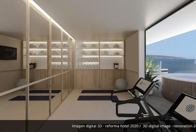 Gym- Rénové en 2020 Hôtel AluaSoul Palma (Adultes Seulement) Cala Estancia, Mallorca